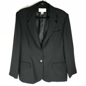 Evan Picone Two Button Black Blazer